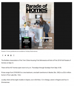 Parade of Homes in STAR News