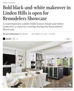 Star Tribune Remodelers Showcase Article