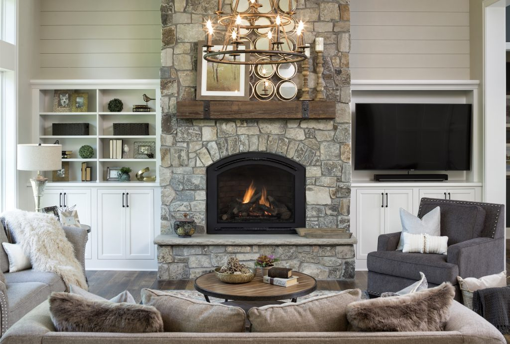 Home built by Kootenia Homes; Staged by Lionheart Home Staging; Photo by Landmark Photography
