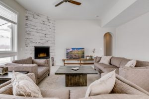 Living Room of Chuck and Kelly's new Fairbault home
