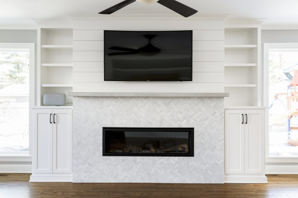 Lecy Bros. Remodel - Remodelers Showcase Fireplace