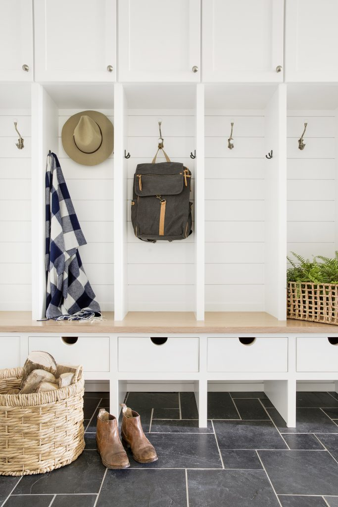 Sustainable 9 Design + Build + Bria Hammel Interiors Mudroom Design