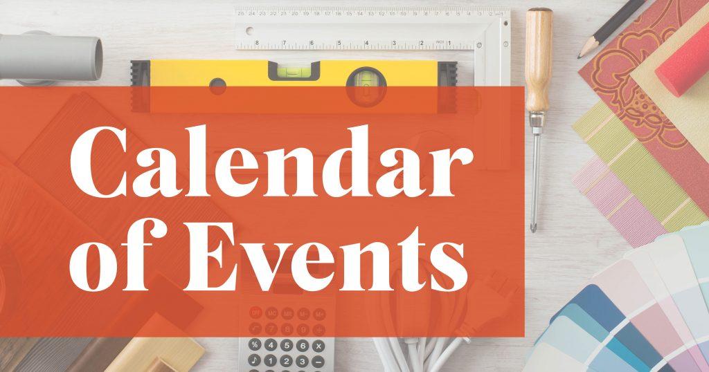 Spring 2021   Calendar of Events   Parade of Homes